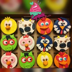 Checa estos lindos cupcakes de la granja de Zenón que entregamos 😍😍😍💕🎉 super cutes! Y perfectos para decorar una mesita dulce 👅💖… Farm Animal Birthday, Baby Boy Birthday, 1st Boy Birthday, 2nd Birthday Parties, Birthday Party Decorations, Farm Themed Party, Farm Party, Ideas Para Fiestas, Animals For Kids
