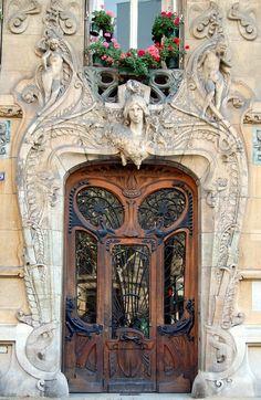art nouveau door by prettyluckygirl