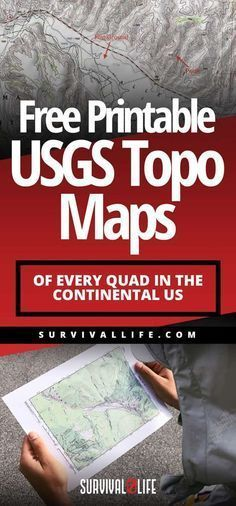Having a topo map of where you want to explore is incredibly important! That's why you should check out these free printable USGS Topo Maps of every Quad in the continental US Urban Survival, Survival Life, Survival Food, Wilderness Survival, Camping Survival, Outdoor Survival, Survival Prepping, Emergency Preparedness, Survival Skills