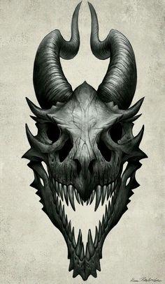 Dragons skull