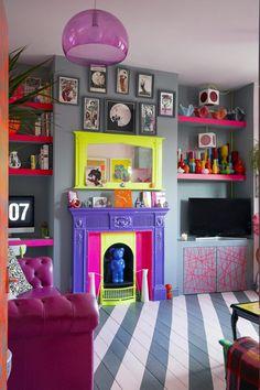 home decor decoration Funky Home Decor, Eclectic Decor, Home Interior Design, Interior Decorating, Colorful Interior Design, Rental Decorating, Deco Design, Salon Design, Design Design