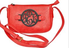 monogrammed cross-body gameday handbags from Grateful Bag. Adorable & in every SEC team color combo!