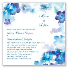 Desire - Cornflower - Invitation -- David's Bridal!