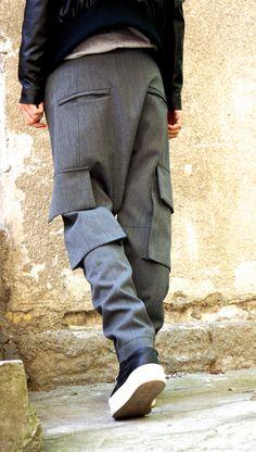 La luz gris de la gota entrepierna pantalones nuevo /