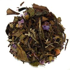 Coconut Calypso White Tea - This white tea is heart healthy, helps maintain healthy cholesterol and blood pressure, naturally energizing and high in antioxidants with natural vitamins and minerals.