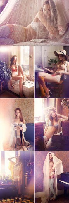 Elle Francesa com a modelo Laragh McCann.
