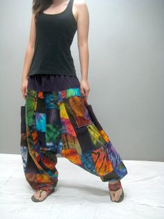MEN Patchwork harem pant MEN 346.8 by thaitee on Etsy