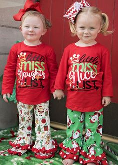 719c15390bf7 Little Miss Nice/Naughty List Outfit #fashion #clothing #shoes #accessories  #