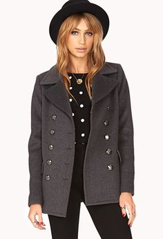 My new fall coat!  Iconic Double-Breasted Peacoat | FOREVER21 - 2000075049