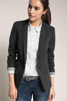 Esprit / Two Tone Stretch Piqué Jersey Blazer