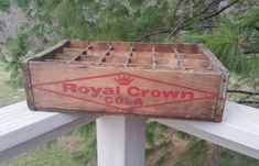 Royal Crown RC Cola Wood Soda Crate with by OldFangledFinds