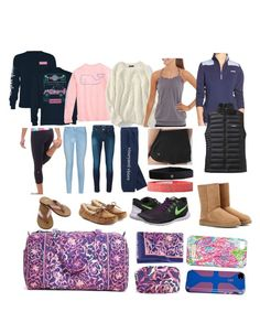 """Preppy Vacation!"" by a-forsberg16 ❤ liked on Polyvore featuring Vera Bradley, Vineyard Vines, Lands' End, lululemon, Patagonia, 7 For All Mankind, Jacob Cohёn, Lilly Pulitzer, NIKE and UGG Australia"