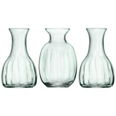 LSA International Mia Mini Vase Trio ($23) ❤ liked on Polyvore featuring home, home decor, vases, clear, set of 3 vases, hand blown glass vases, miniature vase, lsa international vase and mini glass vases