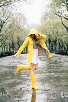 yellow rain gear