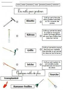 Imagier du jardin les outils 1 montessori pinterest - Quels outils pour jardiner ...
