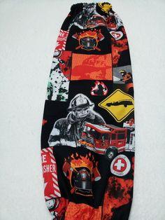 Fire Fighter Plastic Bag Holder Grocery Bag by GabbysQuiltsNSupply, $14.98