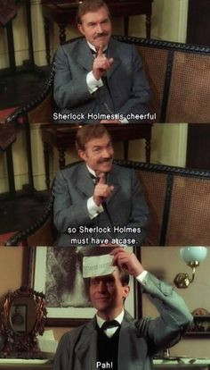 Sherlock and Watson in the Dancing Men Jeremy Brett Sherlock Holmes, Adventures Of Sherlock Holmes, Sherlock John, Welsh, David Burke, Sherlock Quotes, 221b Baker Street, Arthur Conan Doyle, John Watson
