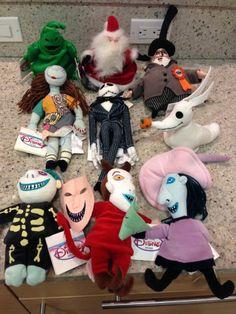 nightmare before christmas plush set of 5 includes jack sally oogie boogie zero mayor nightmare before christmas pinterest oogie boogie