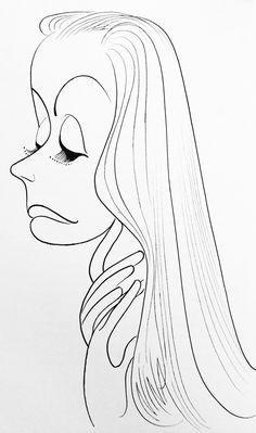 Al Hirschfeld ~ Greta Garbo Black And White Drawing, Black And White Portraits, Caricature Artist, Celebrity Caricatures, Art Deco Posters, Best Portraits, Classic Cartoons, Great Artists, Amazing Art