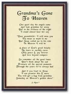Miss you Grandma