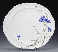 Cake platter, Cornflower, blue, ø 38,5 cm