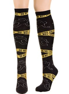 The Scene Of The Crime Socks in Pitch Black at PLASTICLAND