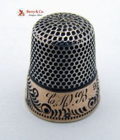Sterling Silver Thimbles | Vintage Sterling Silver Thimble 1910 by BerrysGems