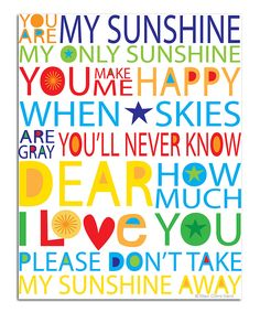 You Are My Sunshine Art Wall Kids, Wall Art, Wall Decor, Nursery Decor, Monday Morning Quotes, You Make Me Happy, You Are My Sunshine, Cute Quotes, Teen Quotes