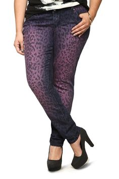 cdf9c90f879 Sites-torrid-Site. Torrid Denim - Purple Overdye Leopard Sophia Skinny Jeans  - Plus Size