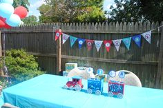 Train 1st Birthday Party Bunting