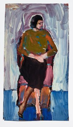 Diebenkorn, Watercolor and gouache on paper Drawing from Sketchbook # 15 [seated female figure on page from magazine]