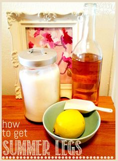 How to get silky summer legs - a fast easy recipe for DIY exfoliate!    From sketchystyles.com #DIY