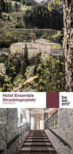 """The historic ensemble consisting of Hotel Straubinger, Badeschloss and Alte Post will be renovated under the motto of """"A square of contrasts"""". We have developed an open hotel concept that extends far beyond just the buildings themselves with the goal to restore Bad Gastein's Straubingerplatz to its former glory and becoming a vibrant town centre, both for visitors and locals. PROJECT_Hotel Ensemble Straubingerplatz DEPARTMENT_Hospitality LOCATION_Bad Gastein Images: © Hans Schubert Open Hotel, Old Post Office, Hotel Concept, Building Concept, Listed Building, Grand Hotel, Hotels And Resorts, Restore, Motto"""