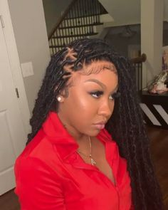Top 60 All the Rage Looks with Long Box Braids - Hairstyles Trends Faux Locs Hairstyles, Black Girl Braided Hairstyles, African Braids Hairstyles, Baddie Hairstyles, Short Bob Hairstyles, Updo Hairstyle, Short Bob Braids, Wedding Hairstyles, Protective Hairstyles