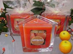 7 oz Triangle Candle Orange Vanilla Scent Candle by Unique Aromas. $20.25. Price per jar candle. Orange Vanilla scent. Candle color may vary from photograph. This candle is sure to bring joy and warmth to all those in the presence of it.Some assembly may be required. Please see product details. Some assembly may be required. Please see product details.
