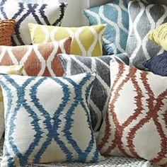 Add bright piles of pillows for a quick and easy update to your decor without spending a ton of money!
