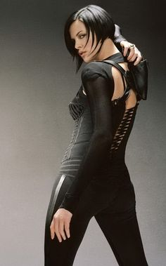 Charlize Therson as Aeon Flux  I think today women are very scared to celebrate themselves, because then they just get labeled.  Charlize Theron