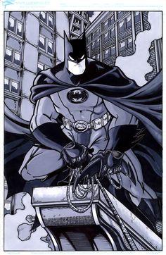 Batman Inc TAS by ElvinHernandez.deviantart.com  SDCC 2012 Artists' Alley: EE-15
