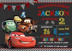 Disney Cars Invitation Birthday Disney Cars Party by LuckyPixel