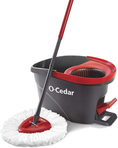 O-Cedar EasyWring Spin Mop, Bucket Floor System Deep cleaning microfiber removes House Cleaning Tips, Cleaning Hacks, Cleaning Supplies, Floor Cleaning, Cleaning Products, Kitchen Cleaning, Cleaning Checklist, Spring Cleaning, Norwex Cleaning