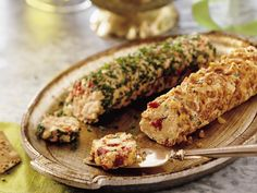 """Gouda Cheese Logs.... you had me at """"Gouda"""" I'll take the one rolled in the pecans please :)"""