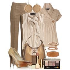 """Shades of Brown & Beige"" by gangdise on Polyvore"
