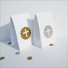 Girl's #Baptism Or #Communion #FavorBags by www.jaclynpeters.com