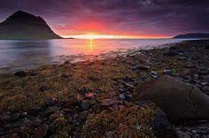 Iceland, Sunset