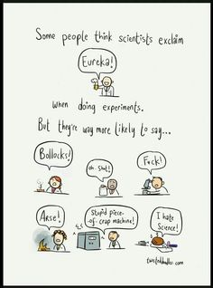 When doing experiments...