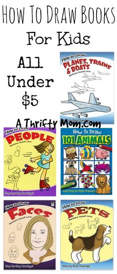 How to Draw Books For Kids All Under $5 - Fun Art Project for Kids