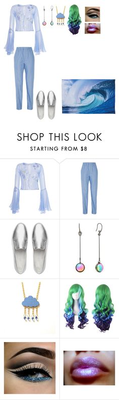 """""""Water Element-Casual"""" by thespine ❤ liked on Polyvore featuring LUISA BECCARIA, Julien David, FitFlop, Diane Von Furstenberg, Blue, casualoutfit, water and elements"""