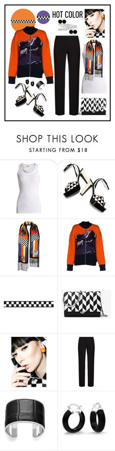 """""""Check Me Out: Dsquared2 Scarf Look"""" by romaboots-1 ❤ liked on Polyvore featuring Brunello Cucinelli, Valentino, Dsquared2, Emilio Pucci, Michael Kors, X-girl, N°21, Aspinal of London and Bling Jewelry"""