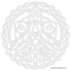 Peace Symbol Knot To Color In Transparent PNG And JPG Formats