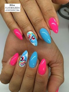 Anime Nails, Beauty Brushes, Unicorn Nails, Nail Polish, Nail Nail, Nail Inspo, Natural Nails, Cute Nails, Nail Art Designs